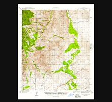 USGS TOPO Map Arizona AZ Happy Valley 314655 1945 62500 Unisex T-Shirt