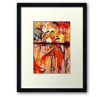 consolation while attempting chess... Framed Print