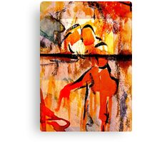 consolation while attempting chess... Canvas Print
