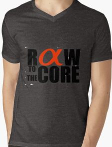 Raw to the core Mens V-Neck T-Shirt