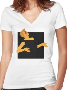 david bowie and the black square of gender Women's Fitted V-Neck T-Shirt