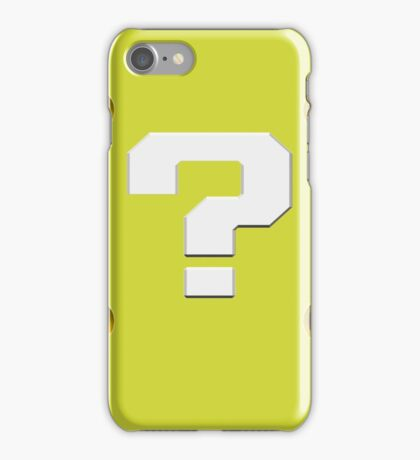 Question Mark Block iPhone Case/Skin