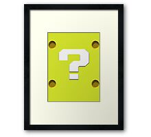 Question Mark Block Framed Print