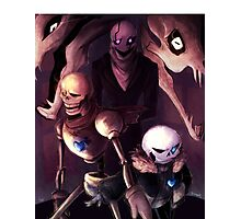 Undertale - Skelebros and Gaster Photographic Print