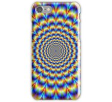 Psychedelic Pulse in Blue and Yellow  iPhone Case/Skin