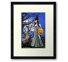 Halloween Night Tale ( 4006  Views) Framed Print