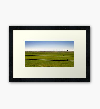 Where The Grass Is Growing Framed Print
