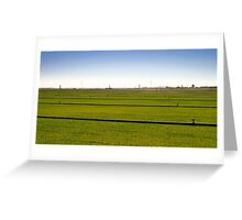 Where The Grass Is Growing Greeting Card