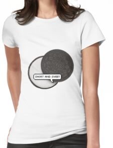 SHORT AND SWEET 2 TUMBLR Womens Fitted T-Shirt