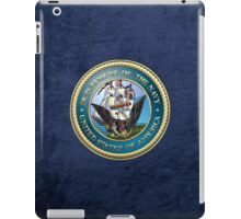 U.S. Navy - USN Emblem 3D on Blue Velvet iPad Case/Skin