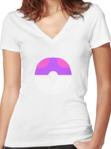 master ball Women's Fitted V-Neck T-Shirt