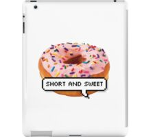 SHORT AND SWEET 3 TUMBLR iPad Case/Skin
