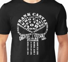 Punisher Typography Unisex T-Shirt