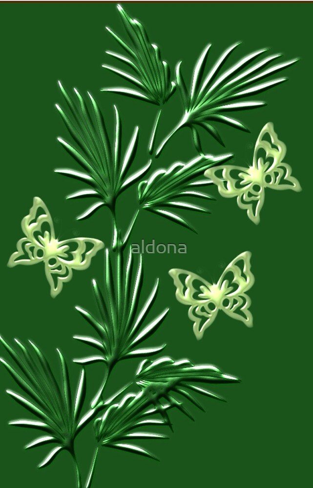 A leaf with butterfly ( Wall Art) design  (5179  Views) by aldona