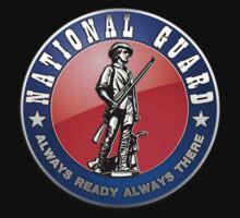 US National Guard (NG) Emblem 3D on Red Velvet Kids Clothes