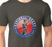US National Guard (NG) Emblem 3D on Red Velvet Unisex T-Shirt