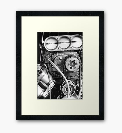 Top Fuel in Black and White Framed Print