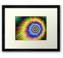 Color Explosion Tie-Dyed Framed Print