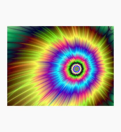 Color Explosion Tie-Dyed Photographic Print