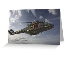 Taipan Multi Role Helicopter Greeting Card