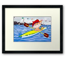 Kitty at the Olympics (1280   views) Framed Print