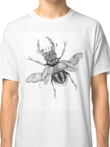 Dotwork Flying Beetle Illustration  Classic T-Shirt