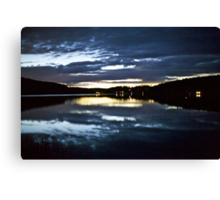 6912 .VSOP.★★★★★★ . Lappland Night Landscape . Sweden. Brown Sugar Story.Featured on the redbubble Explore Page!* and ARTWORK DUTCH SHOWCASE. This image Has Been S O L D . Canvas Print