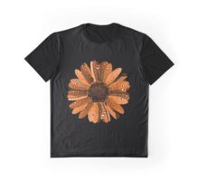 Orange flower with water drops Graphic T-Shirt