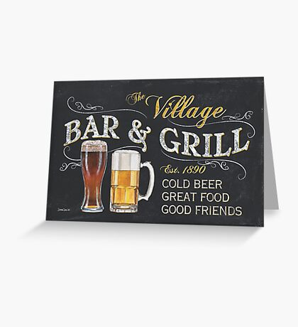 Bar and Grill Greeting Card