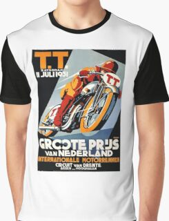 1931 Netherlands Motorcycle Race Poster Graphic T-Shirt