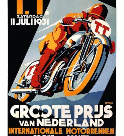 1931 Netherlands Motorcycle Race Poster Sticker