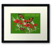 Poppies and butterflies (2891 Views) Framed Print