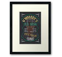 O'Malley's Irish Pub Framed Print