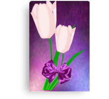 2 Pink Tulips (7464 Views) Canvas Print