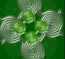 Green Abstract  pattern  (2024 Views) by aldona