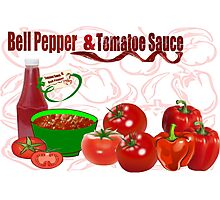 Bell Pepper & Tomato Sauce (3831 Views) Photographic Print