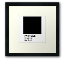 Pantone Black Framed Print