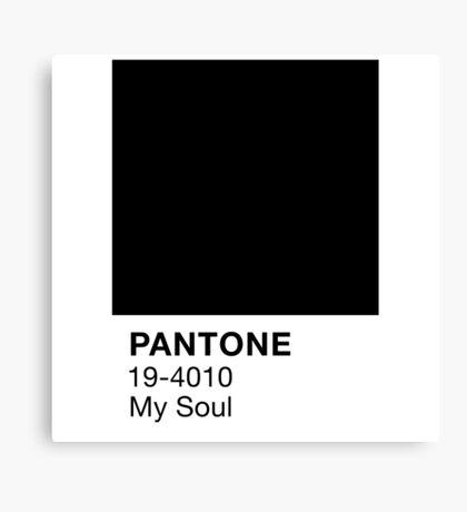 Pantone Black Canvas Print