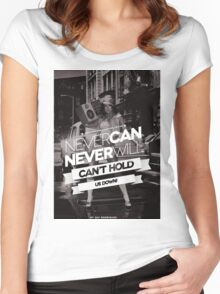 Can't Hold Us Down Women's Fitted Scoop T-Shirt
