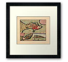 Map Of Gibraltar 1706 Framed Print
