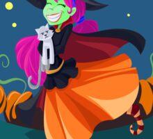 Happy Witch w/Kitty Sticker