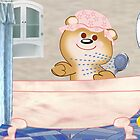 Teddy in the bath tub (3481 Views) by aldona