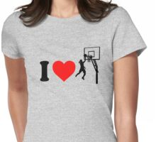 I Love Basketball Womens Fitted T-Shirt