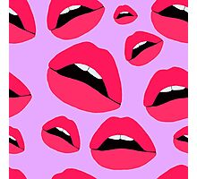 Yes (lips pattern 2) Photographic Print