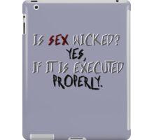 Wicked sex iPad Case/Skin