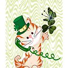 Kitty on St.Patrick's day Iphone case (1207 Views) by aldona