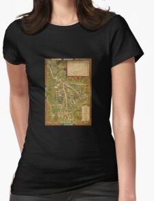 Map Of Cambridge 1574 Womens Fitted T-Shirt