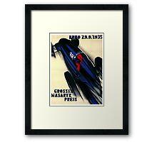 1935 Czech Grand Prix Racing Poster Framed Print