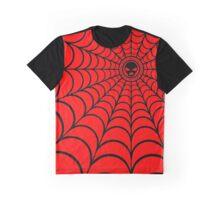 Spider Web Black Graphic T-Shirt