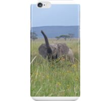 Happy baby elephant (small items only) iPhone Case/Skin